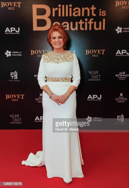 Sarah Ferguson Duchess of York attends the Artists for Peace and Justice Bovet 1822 Gala on December 7 2018 in Dubai United Arab Emirates Photo by...
