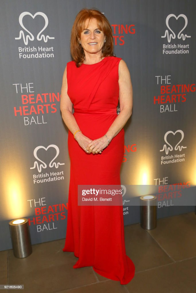 Sarah Ferguson, Duchess of York attends the British Heart Foundations Beating Hearts Ball at The Guildhall on February 20, 2018 in London, England.