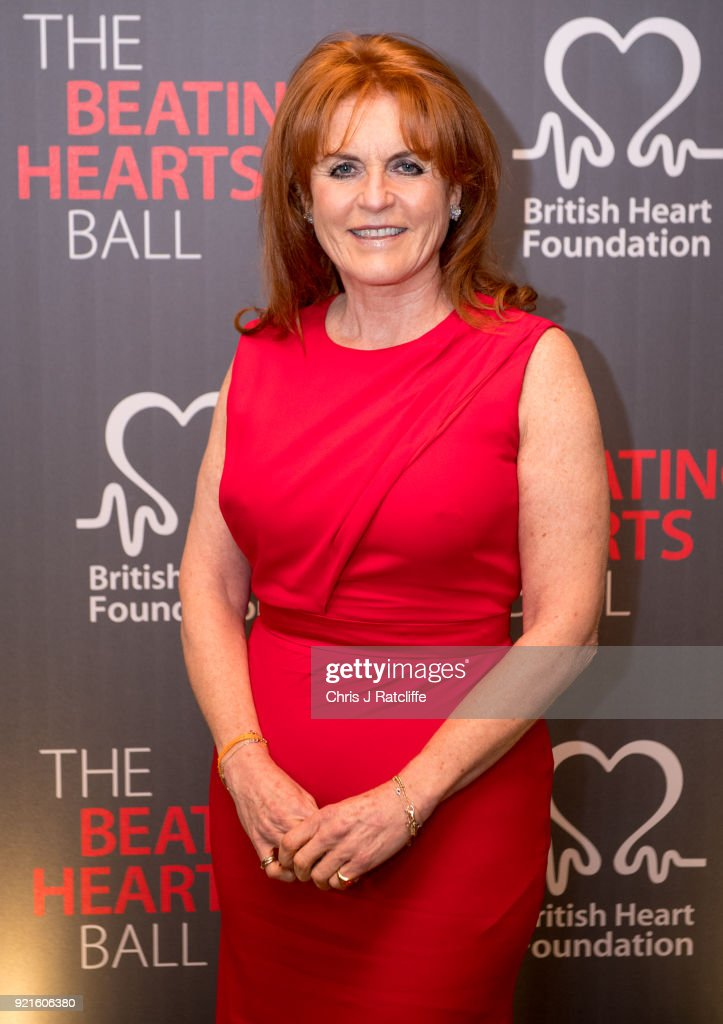 Sarah Ferguson, Duchess of York, attends the British Heart Foundation's 'The Beating Hearts Ball' at The Guildhall on February 20, 2018 in London, England.