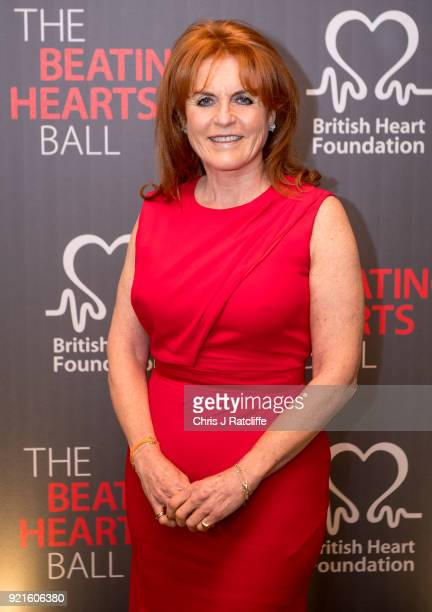 Sarah Ferguson, Duchess of York, attends the British Heart Foundation's 'The Beating Hearts Ball' at The Guildhall on February 20, 2018 in London,...