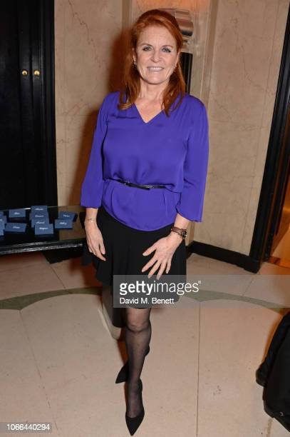 Sarah Ferguson Duchess of York attends the Claridge's Zodiac Party hosted by Diane von Furstenberg Edward Enninful to celebrate the Claridge's...