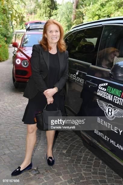 Sarah Ferguson Duchess of York attends the 'Filming Italy Sardegna Festival' at Forte Village Resort on June 16 2018 in Santa Margherita di Pula...