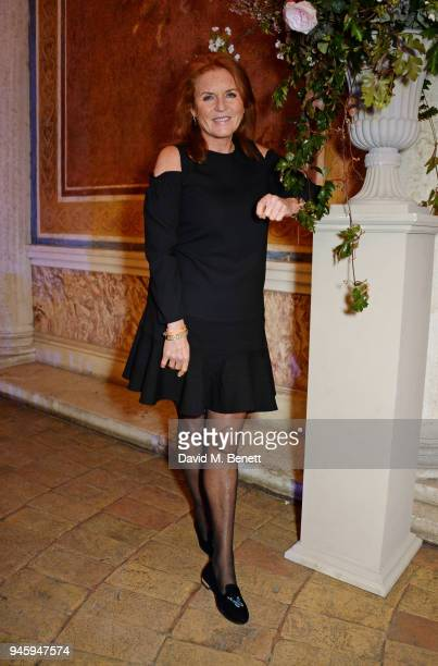 Sarah Ferguson, Duchess of York, attends the Formula E cocktail party in the Italian capital ahead of the first-ever E-Prix in Rome at Casina...