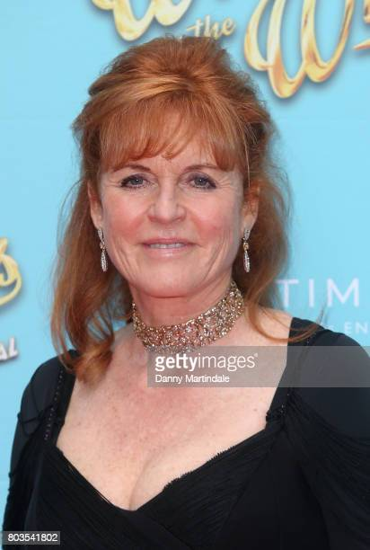 Sarah Ferguson Duchess of York attends the Gala performance of Wind In The Willows at London Palladium on June 29 2017 in London England