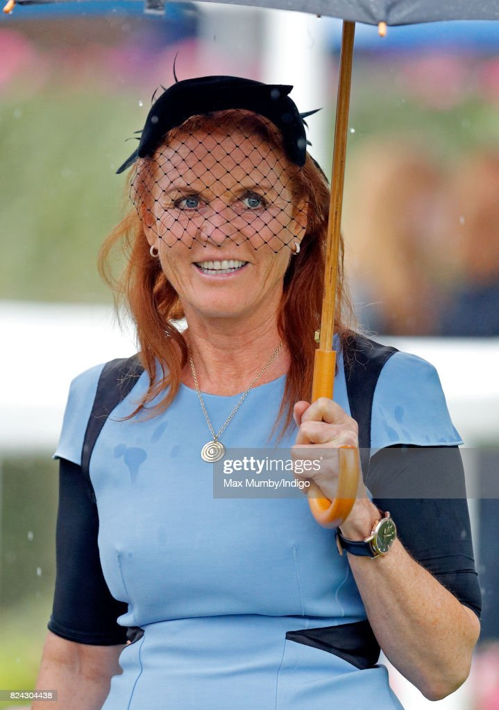 Sarah Ferguson, Duchess of York attends the King George VI racing meet at Ascot Racecourse on July 29, 2017 in Ascot, England.