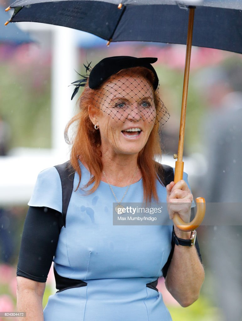 Prince Andrew and Sarah Ferguson Attend Ascot Races : News Photo
