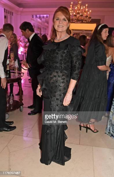 Sarah Ferguson Duchess of York attends the Lady Garden Foundation Gala 2019 at Claridge's Hotel on October 16 2019 in London England