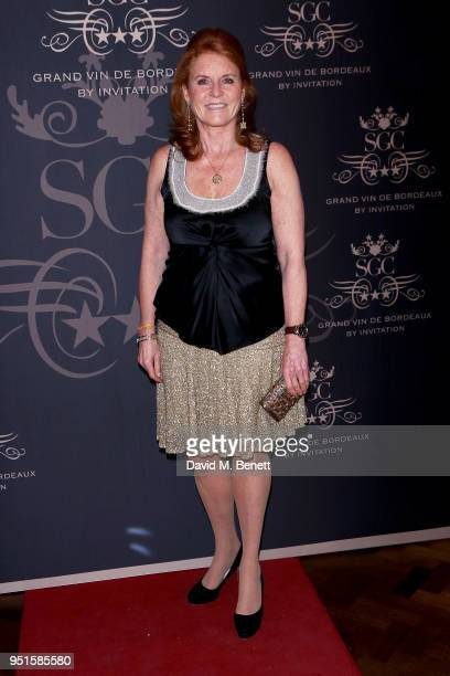 Sarah Ferguson Duchess of York attends the Le Cercle SGC Dinner 'A Golden Affair' at Cafe Royal on April 26 2018 in London England