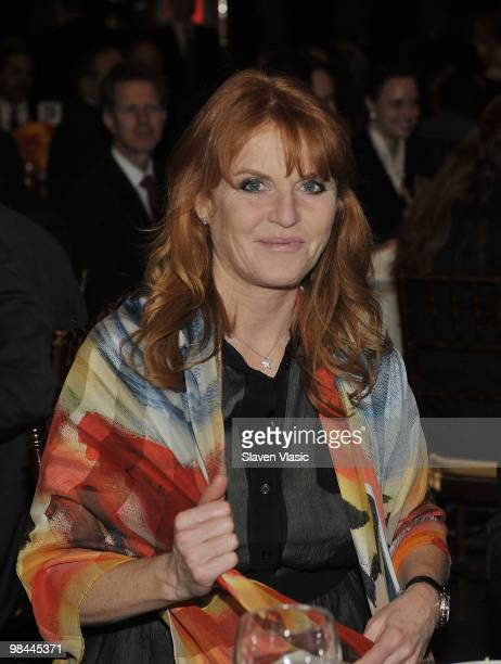 Sarah Ferguson, Duchess of York attends the Miracle Corners of the World Annual Gala dinner celebration at the NYU Africa House - Kimmel Center on...