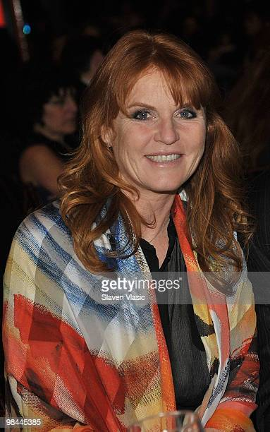 Sarah Ferguson Duchess of York attends the Miracle Corners of the World Annual Gala dinner celebration at the NYU Africa House Kimmel Center on April...