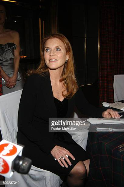 Sarah Ferguson Duchess of York attends The Orchid Dinner at Rainbow Room on February 6 2007 in New York
