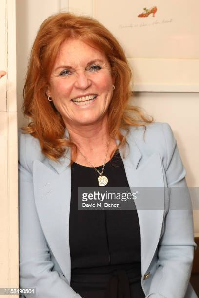 Sarah Ferguson Duchess of York attends the UK launch of The Female Social Network at The Ivy on June 26 2019 in London England Photo by David M...