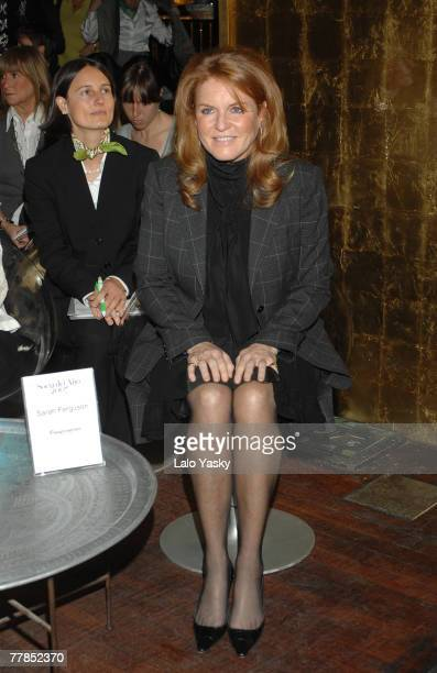 Sarah Ferguson Duchess of York attends the Weight Watchers 2007 Member Award at Bangaloo on November 12 2007 in Madrid Spain