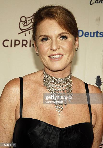 Sarah Ferguson Duchess of York during 2006 Cipriani/Deutsche Bank Concert Series Featuring Kanye West Benefitting amfAR at Cipriani Wall Street in...