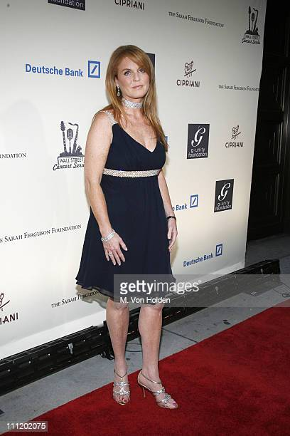 Sarah Ferguson Duchess of York during 50 Cent Live at the 2007 Cipriani Wall Street Concert Series Benefiting the Sarah Ferguson Foundation at...