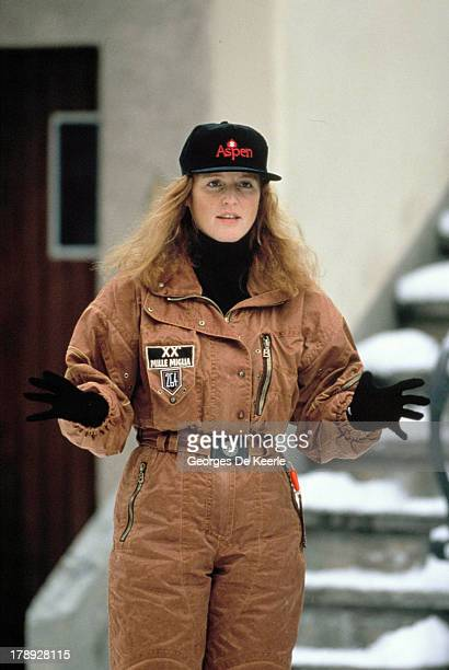 Sarah Ferguson Duchess of York during a skiing holiday on Genuary 13 1991 in Klosters Switzerland