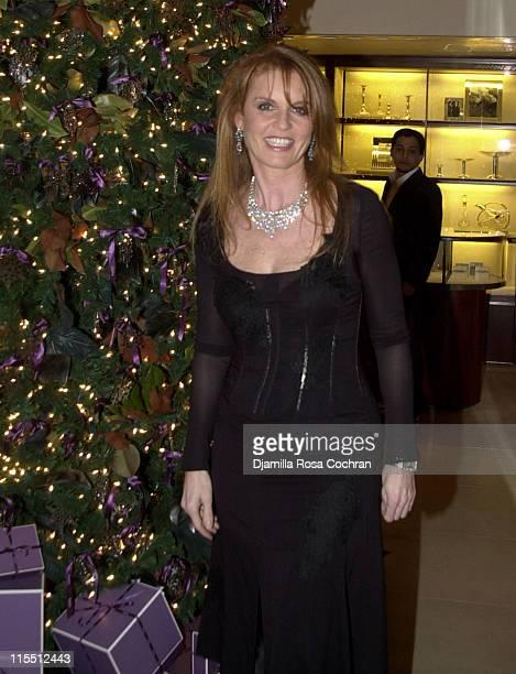 Sarah Ferguson Duchess of York during Asprey Flagship Store Opening in New York City at Asprey 723 5th Avenue @ 56th Street in New York City New York...
