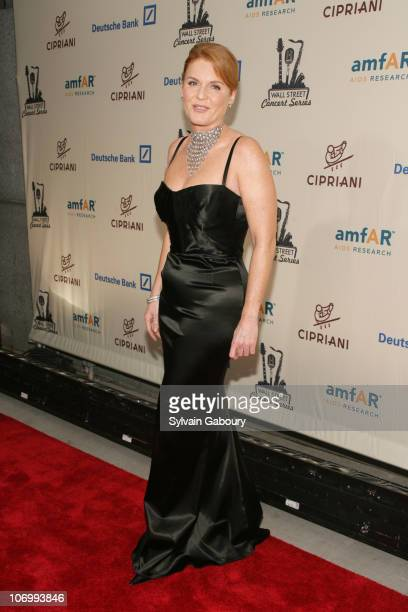 Sarah Ferguson Duchess of York during Kanye West Performed at the 2006 Cipriani and Deutsche Bank Concert Series Benefiting amfAR Arrivals at...