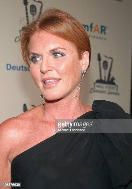 Sarah Ferguson Duchess of York during Lionel Richie Features 2006 Cipriani Concert Series to Benefit amfAR Red Carpet at Cipriani Wall Street in New...