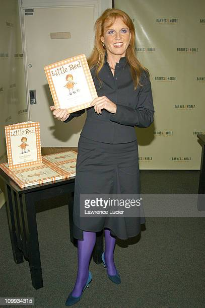 Sarah Ferguson Duchess of York during Sarah Ferguson Promotes Her New Book Little Red at Barnes and Noble in New York NY United States