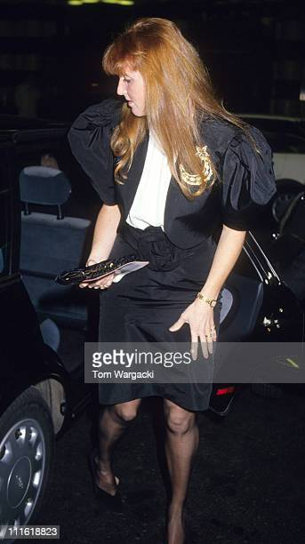 Sarah Ferguson Duchess of York during Sarah Ferguson Sighting at Over My Dead Body at the Savoy Theatre February 2 1989 at Savoy Theatre in London...