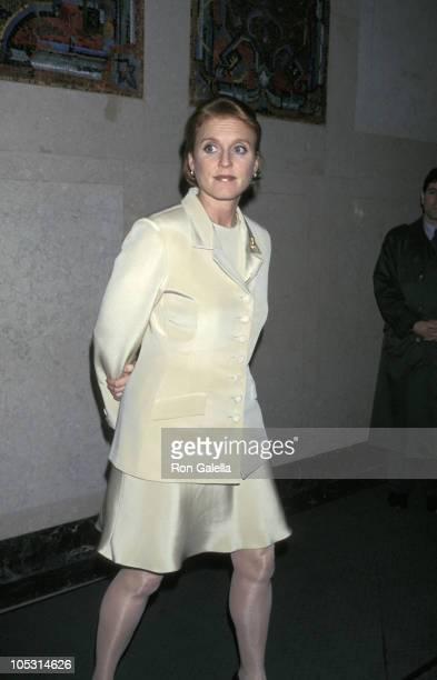 Sarah Ferguson Duchess of York during Spring 1997 Collection Benefiting Chances for Children at Pamela Dennis Showroom in New York City New York...