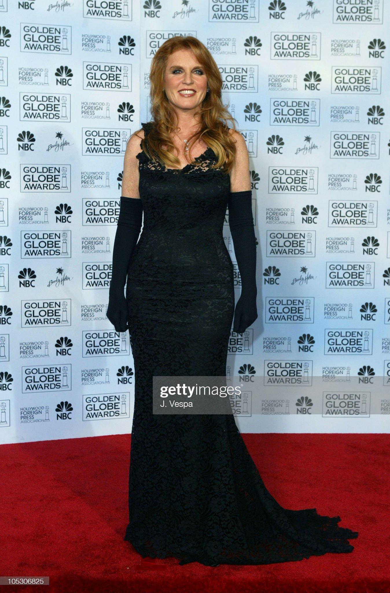 Вечерние наряды Отем пока еще Филлипс и Сары Йоркской The 61st Annual Golden Globe Awards - Press Room : News Photo