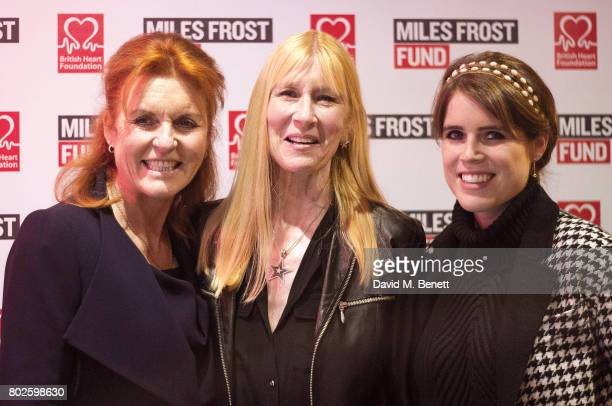 Sarah Ferguson Duchess of York Lady Carina FitzalanHoward and Princess Eugenie attend The Miles Frost Fund party at Bunga Bunga Covent Garden on June...