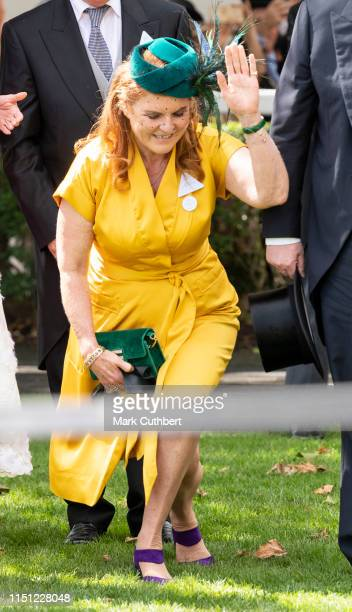 Sarah Ferguson Duchess of York on day four of Royal Ascot at Ascot Racecourse on June 21 2019 in Ascot England