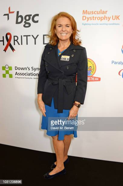 Sarah Ferguson Duchess of York representing Street Child attends BGC Charity Day at One Churchill Place on September 11 2018 in London England