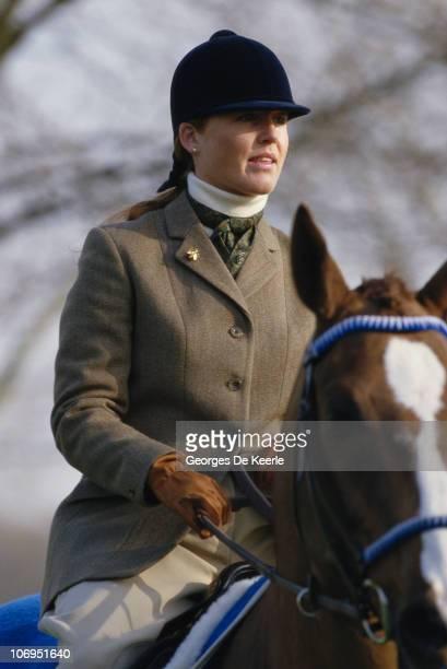 Sarah Ferguson Duchess of York riding the racehorse Aldaniti UK 3rd March 1987