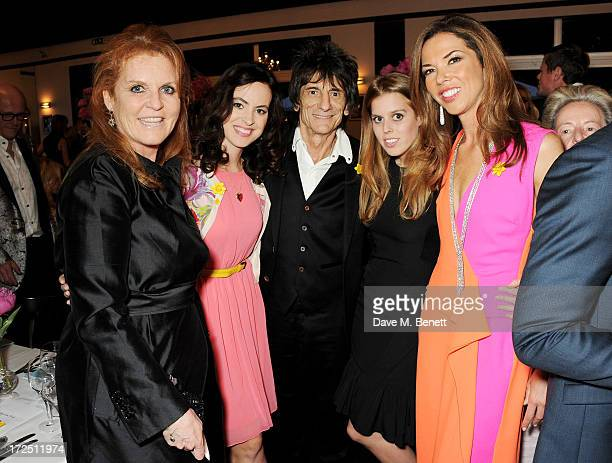 Sarah Ferguson Duchess of York Sally Wood Ronnie Wood Princess Beatrice of York and Heather Kerzner attend The Masterpiece Midsummer Party in aid of...