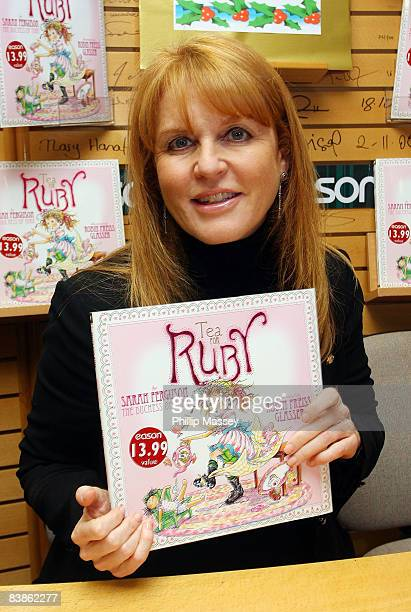 Sarah Ferguson, Duchess of York, signs copies of her book 'Tea For Ruby' at Easons on November 29, 2008 in Dublin, Ireland