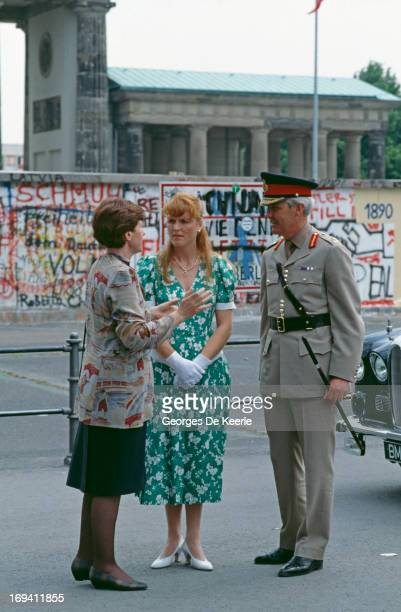 Sarah Ferguson Duchess of York visits the Berlin Wall 25th May 1989