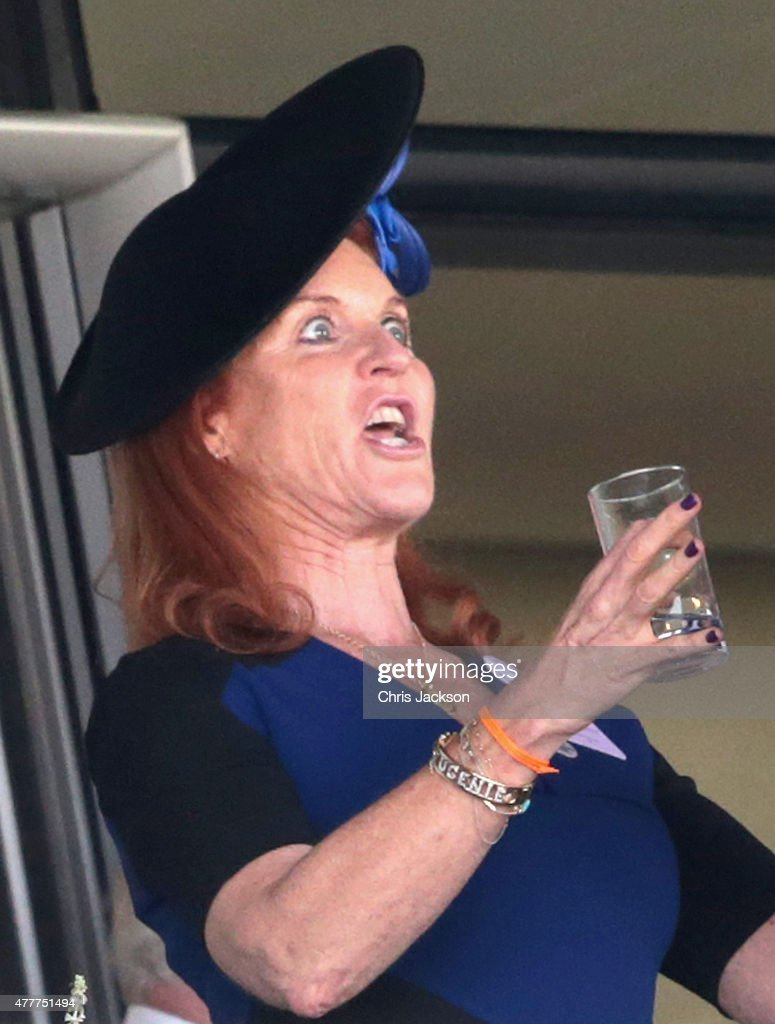 Sarah Ferguson, Duchess of York watches the racing on day 4 of Royal Ascot at Ascot Racecourse on June 19, 2015 in Ascot, England.
