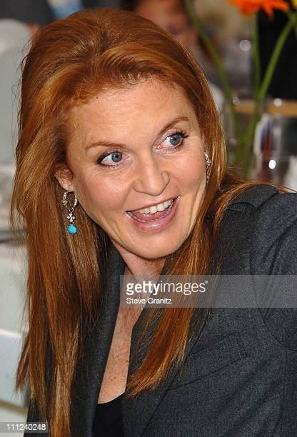 Sarah Ferguson during 2005 World Children's Day at The Los Angeles Ronald McDonald House at Ronald McDonald House in Hollywood California United...
