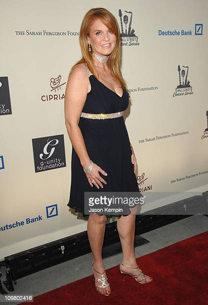 Sarah Ferguson during 2007 Cipriani Wall Street Concert Series Presents 50 Cent Live June 20 2007 at Cipriani's Wall Street in New York City New York...