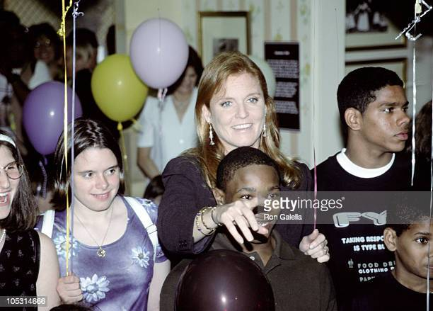 Sarah Ferguson during Ceremony Opening of Kid City at New York Historical Society in New York City New York United States