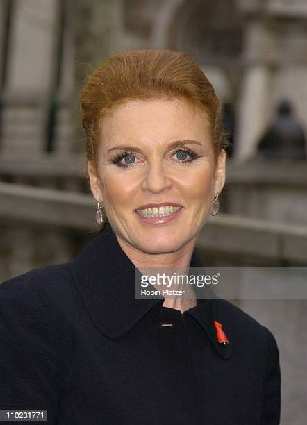 Sarah Ferguson during Olympus Fashion Week Fall 2005 The Heart Truth Red Dress Collection Fashion Show Departures at Olympus Fashion Week at Bryant...