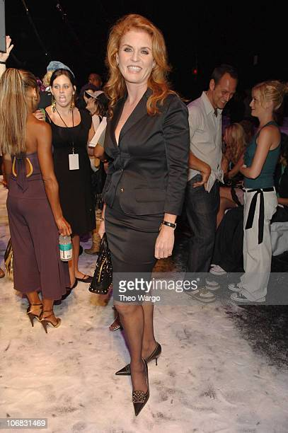 Sarah Ferguson during Olympus Fashion Week Spring 2006 Gwen Stefani for LAMB Front Row and Backstage at Roseland in New York City New York United...