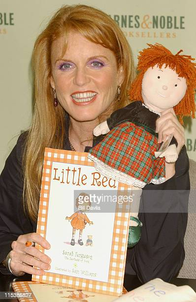Sarah Ferguson during Sarah Ferguson Promotes Her New Book 'Little Red' at Barnes and Noble in New York NY United States