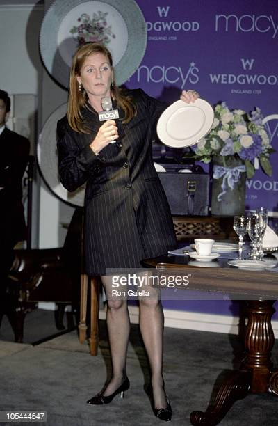 Sarah Ferguson during Special Appearance by US Spokesperson for Wedgewood at Macy's Herald Square in New York City New York United States