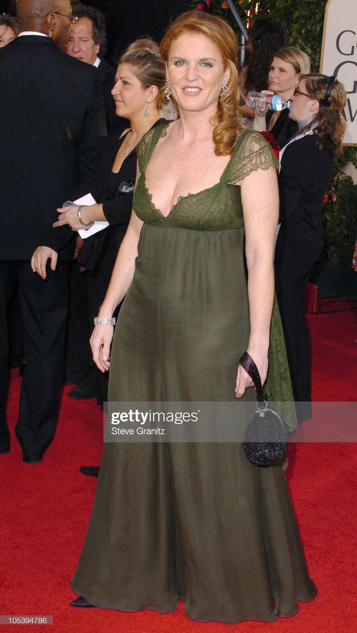 Вечерние наряды Отем пока еще Филлипс и Сары Йоркской The 62nd Annual Golden Globe Awards - Arrivals : News Photo
