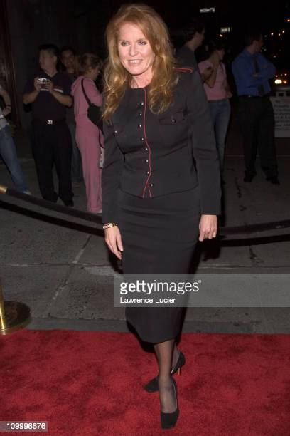 Sarah Ferguson during The Cipriani Wall Street Concert Series Presents Marc Anthony September 15 2005 at Ciprianis Downtown in New York City New York...