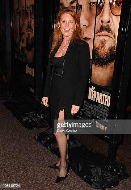 Sarah Ferguson during 'The Departed' Los Angeles Screening at The Director's Guild in West Hollywood California United States