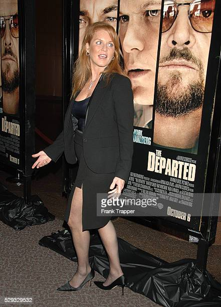 Sarah Ferguson dutchesse of York arrives at the special screening of 'The Departed' held at the Directors Guild of America