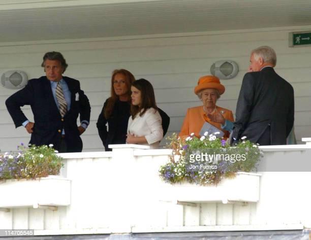 Sarah Ferguson HRH Princess Eugenie HM The Queen Elizabeth II and guests