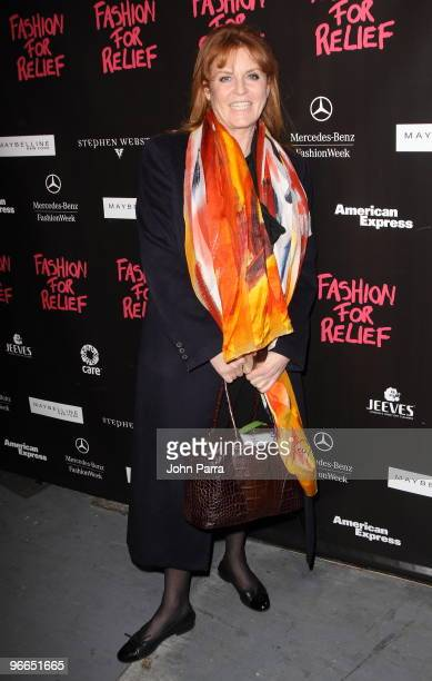 Sarah Ferguson is seen around Bryant Park during MercedesBenz Fashion Week Fall 2010 on February 12 2010 in New York City