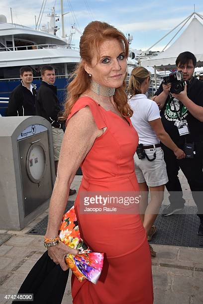 Sarah Ferguson is seen on day 9 of the 68th annual Cannes Film Festival on May 21 2015 in Cannes France