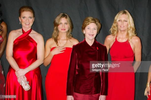 Sarah Ferguson Lauren Bush First Lady Laura Bush and Patti Hansen